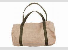 Men's Ibiza Style Hessian Beach Bag with Khaki Straps