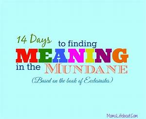 14 Days to Finding Meaning in the Mundane: Introduction