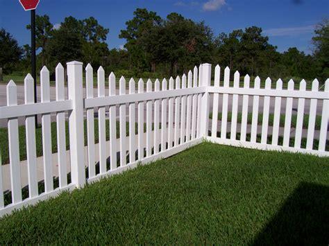 White Vinyl Picket Fence Panel