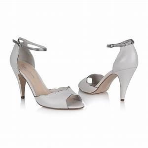 Nathalie Porcelain Leather Wedding Shoes By Rachel Simpson
