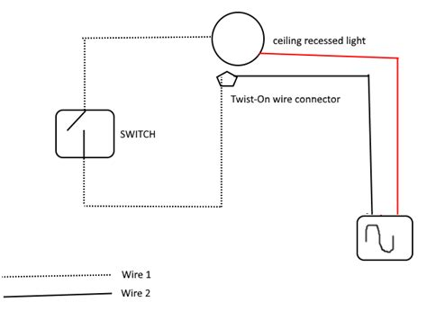 Electrical Wiring Switch For Recessed Lights Using