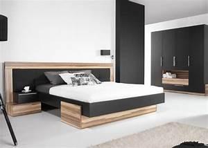 Lit avec armoire dressing meubles pour chambre coucher for Chambre a coucher adulte avec matelas thiriez prix