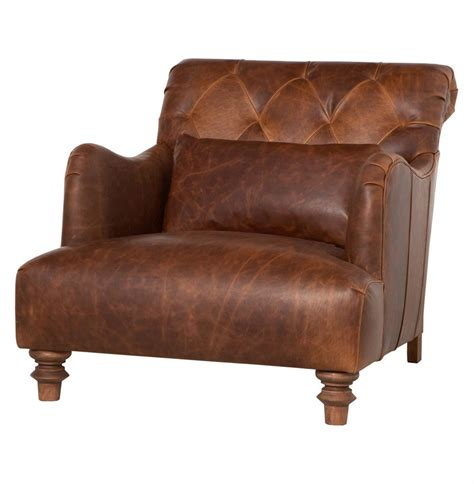 leather chair cisco brothers acacia industrial rustic leather