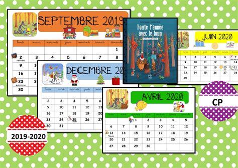 calendrier du loup   la classe de corinne