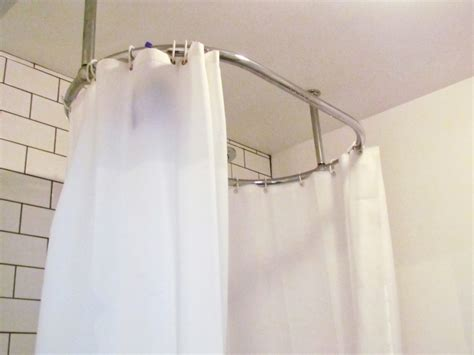 19 ceiling mounted shower curtain rod hanging our