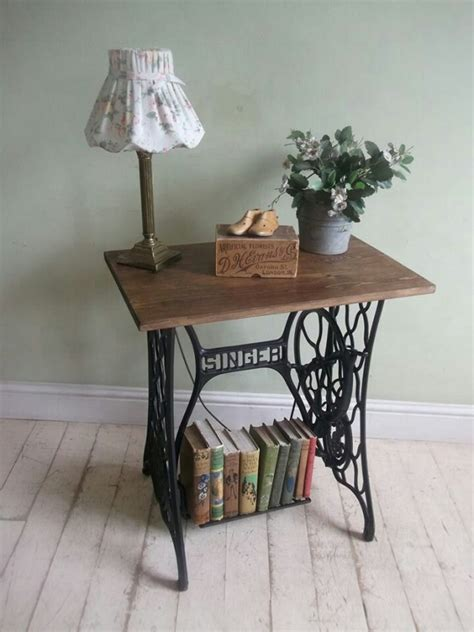 sewing machine desk ideas 20 vintage repurposed sewing machines