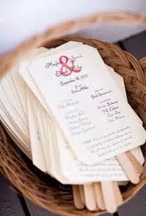 how to make wedding program fans program cards on wedding programs ceremony