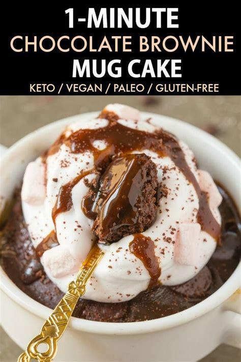 This keto chocolate brownie mug cake is the BEST vegan and
