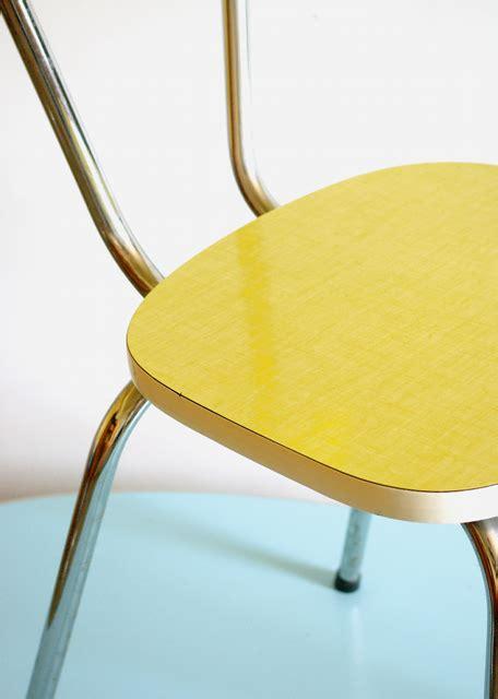 cuisine vintage chaise vintage formica jaune