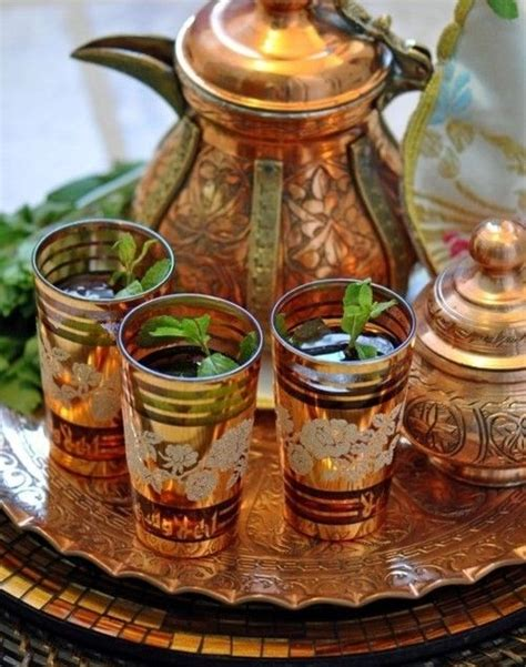 moroccan mint tea arabic tea the best served with fresh mint hot and sweet in a bedouin tent in the desert