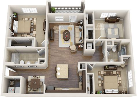 Luxury Apartment Floor Plans Apartment layout Luxury