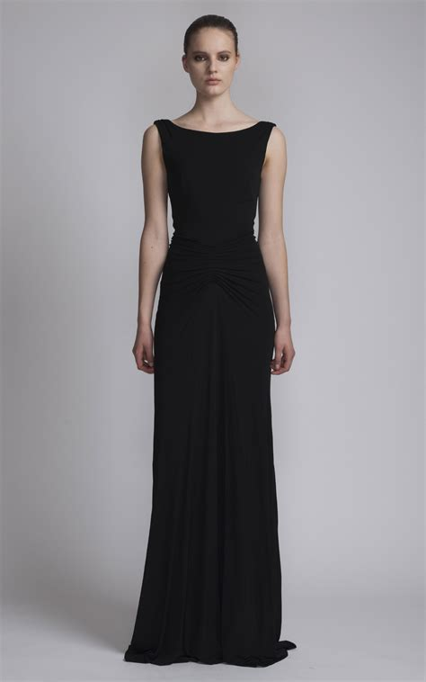 Boat Neck Fall Dress by Floor Length Dress With Boat Neck By Issa Moda Operandi