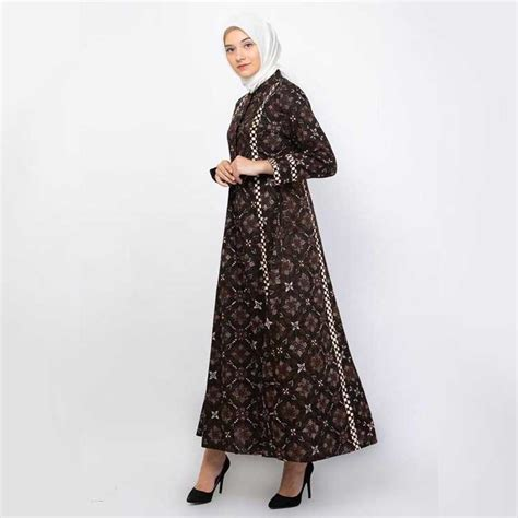 model dress batik panjang  mampu membuat  tampil beda