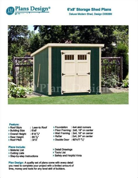 modern roof style    deluxe shed plans design
