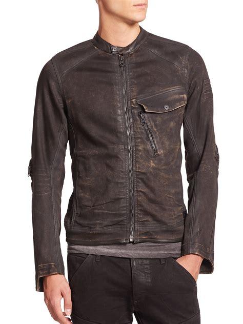 jacket moto lyst g star raw revend coated moto jacket in black for men