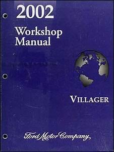 2002 Mercury Villager Repair Shop Manual Original