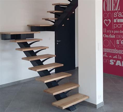 fabrication escalier design fer et bois 224 ensues la