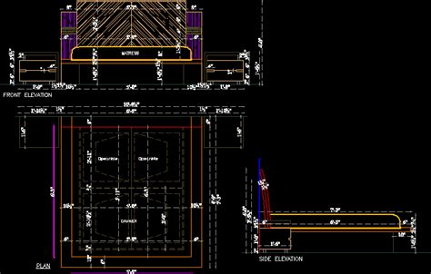 bedroom design  autocad cad   kb bibliocad