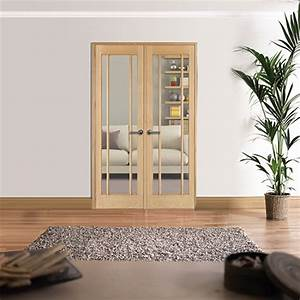 1246x2031mm, W4, Lincoln, Oak, Internal, Room, Divider, Internal, French, Doors, With, Sidelight, Options