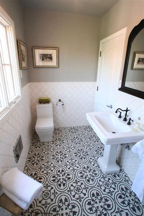 bathroom floor tile  white walls tub slate charcoal