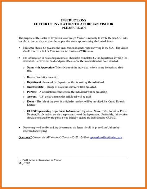invite letter  visitor visa moutemplate