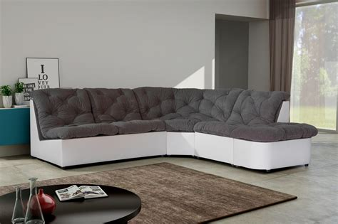 canape d angle blanc et gris cdiscount canapé d angle noir et blanc