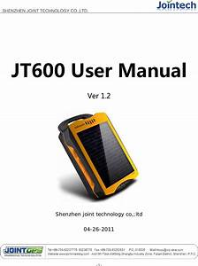 Joint Technology Jt600 Portable Gps Tracker User Manual