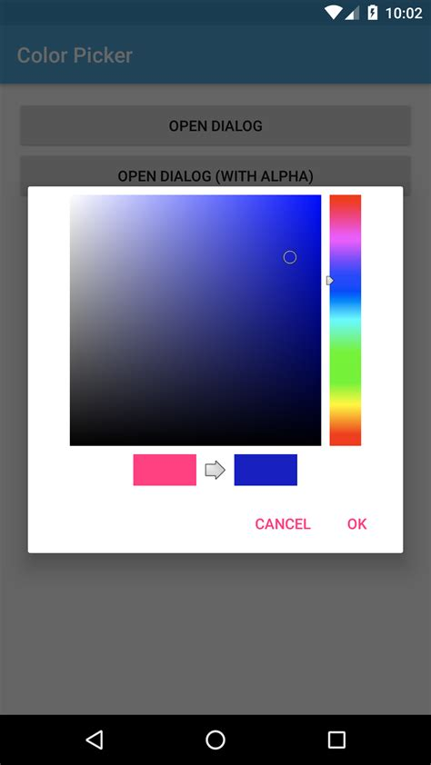 creating color picker dialog in android learn