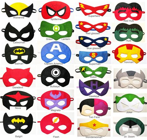 power rangers cake toppers 4 felt masks party pack for kids you choose styles