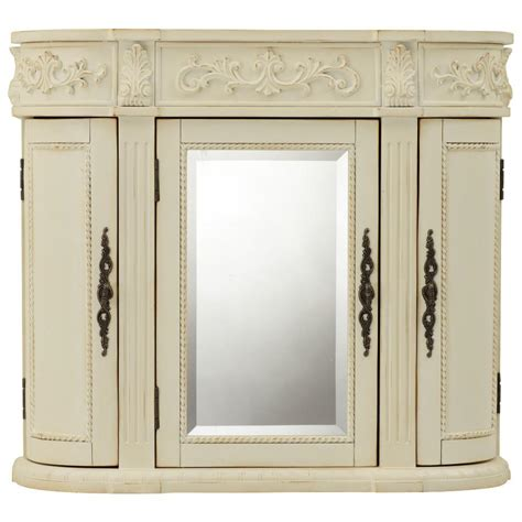 wall cabinet with mirror for bathroom home decorators collection chelsea 31 1 2 in w bathroom