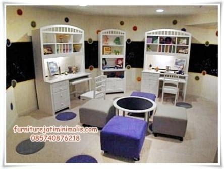 meja rias warna putih meja belajar anak kembar meja belajar anak meja belajar