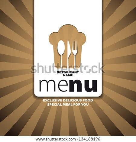 restaurant menu card design template  stock vector
