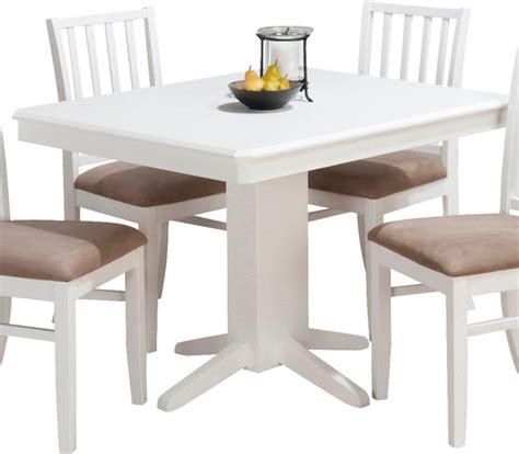 jofran aspen rectangle pedestal dining table  white