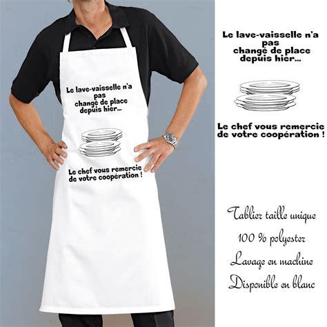 tablier homme cuisine tablier cuisine lave vaisselle avec message rigolo en