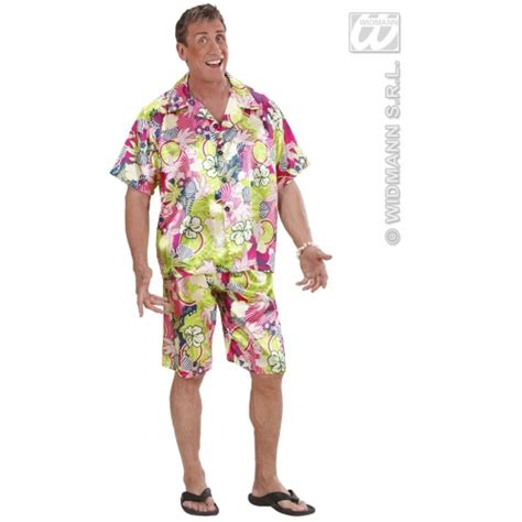 Mens Hawaiian Man - Costume Outfit for Tropical Lua Fancy Dress | eBay