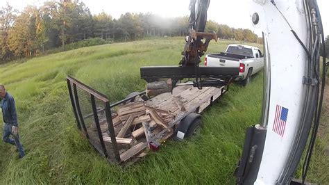 excavator log splitter bobcat wood mini  midi trackhoe caterpillar  youtube