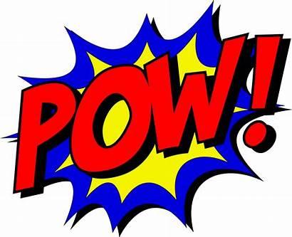 Pow Comic Superhero Kapow Clipart Onomatopoeia Transparent