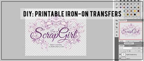diy printable iron  transfers scrap girls