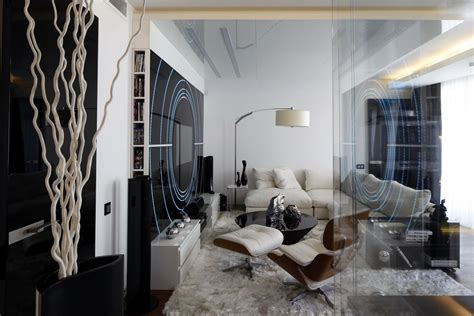 Black And White Modern Apartment Interior Ideas