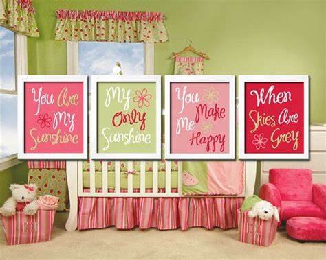 You Are My Sunshine Wall Art, Hot Pink Yellow Sunshine