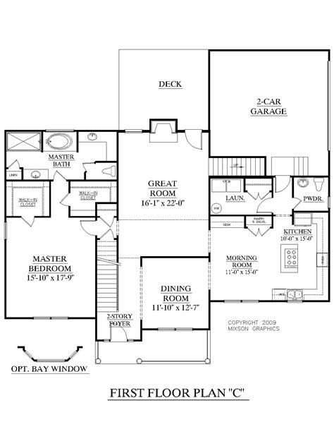 2 Bedroom Floor Plan Layout by House Plan 2675 C Longcreek Quot C Quot Floor Traditional 2