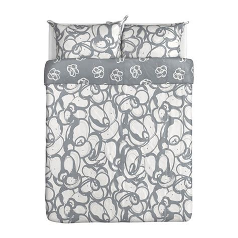 ikea white duvet ikea klanglilja duvet cover pillowcases set gray