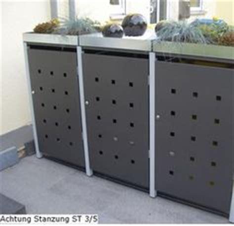 mülltonnenbox mit pflanzdach selber bauen 3er m 252 lltonnenbox holz anthrazit grau reihenhausgarten