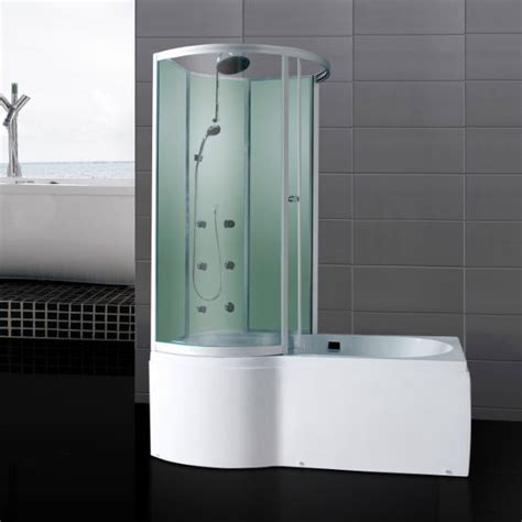 Shower Bath With Jets by P Shaped Shower Bath With Jets Glass Enclosure