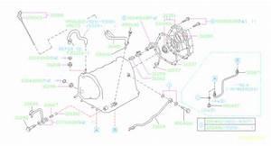 1996 Subaru Impreza Pipe Complete-oil Cooler  Outlet  Case  Transmission