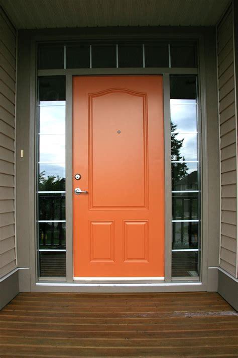 front doors doors exterior house colors orange front