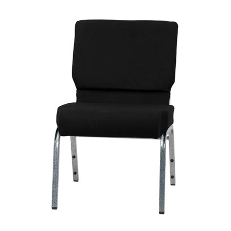 hercules series 21 w stacking church chair in black