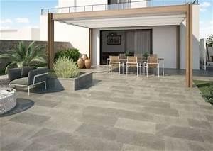 terrasse carrelages et dallages pour l39exterieur cote With photo carrelage terrasse exterieur 7 prix dune terrasses au m2 bois beton composite