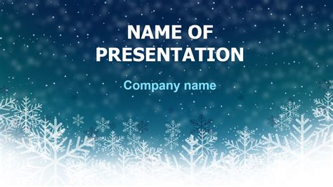 deep snow powerpoint template  theme