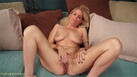Beautiful Blonde Milf Masturbates Pussy Alpha Porno